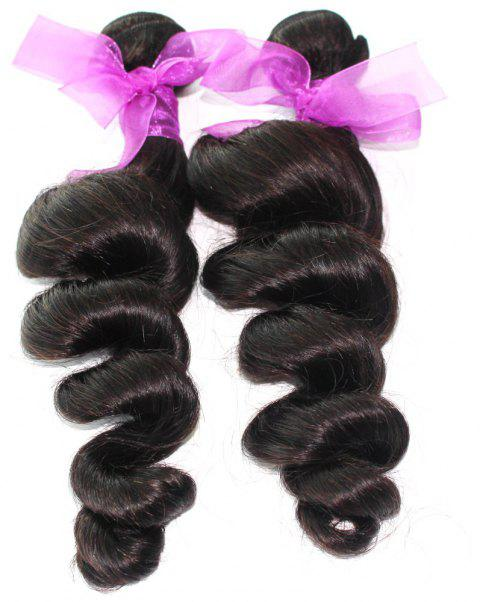 Loose Wave Natural Color Peruvian Human Virgin Hair Weave 2pcs - NATURAL COLOR 12INCH*12INCH