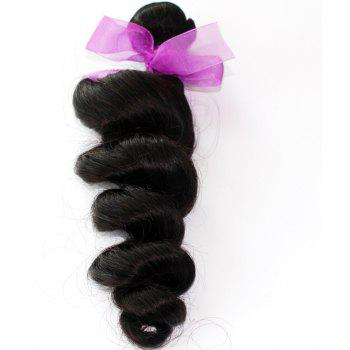 Loose Wave Natural Color Peruvian Human Virgin Hair Weave 2pcs - NATURAL COLOR 18INCH*20INCH
