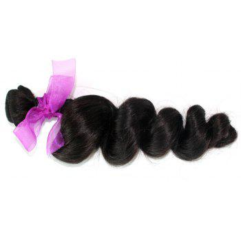 Loose Wave Natural Color Peruvian Human Virgin Hair Weave 2pcs - NATURAL COLOR 14INCH*14INCH