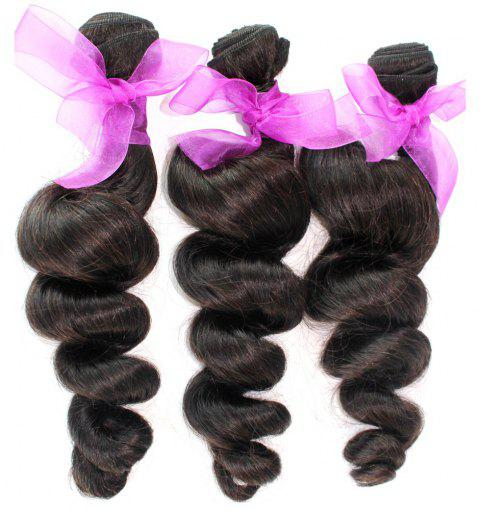 Loose Wave Natural Color 100 Percent Peruvian Human Virgin Hair Weave 3pcs - NATURAL COLOR 16INCH*16INCH*16INCH