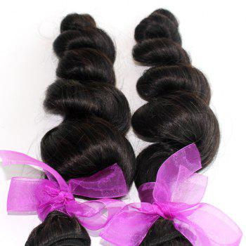 Loose Wave Natural Color 100 Percent Peruvian Human Virgin Hair Weave 3pcs - NATURAL COLOR 10INCH*12INCH*14INCH