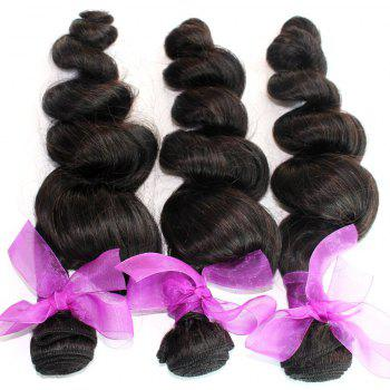Loose Wave Natural Color 100 Percent Peruvian Human Virgin Hair Weave 3pcs - NATURAL COLOR 22INCH*22INCH*22INCH