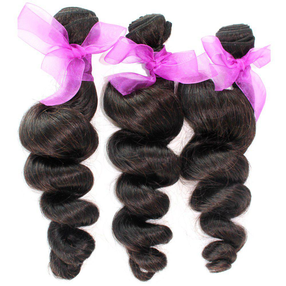 Loose Wave Natural Color 100 Percent Peruvian Human Virgin Hair Weave 3pcs - NATURAL COLOR 20INCH*22INCH*24INCH