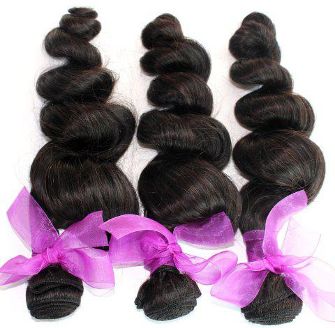 Loose Wave Natural Color Peruvian Human Virgin Hair Weave 4pcs - NATURAL COLOR 10INCH*12INCH*14INCH*16INCH