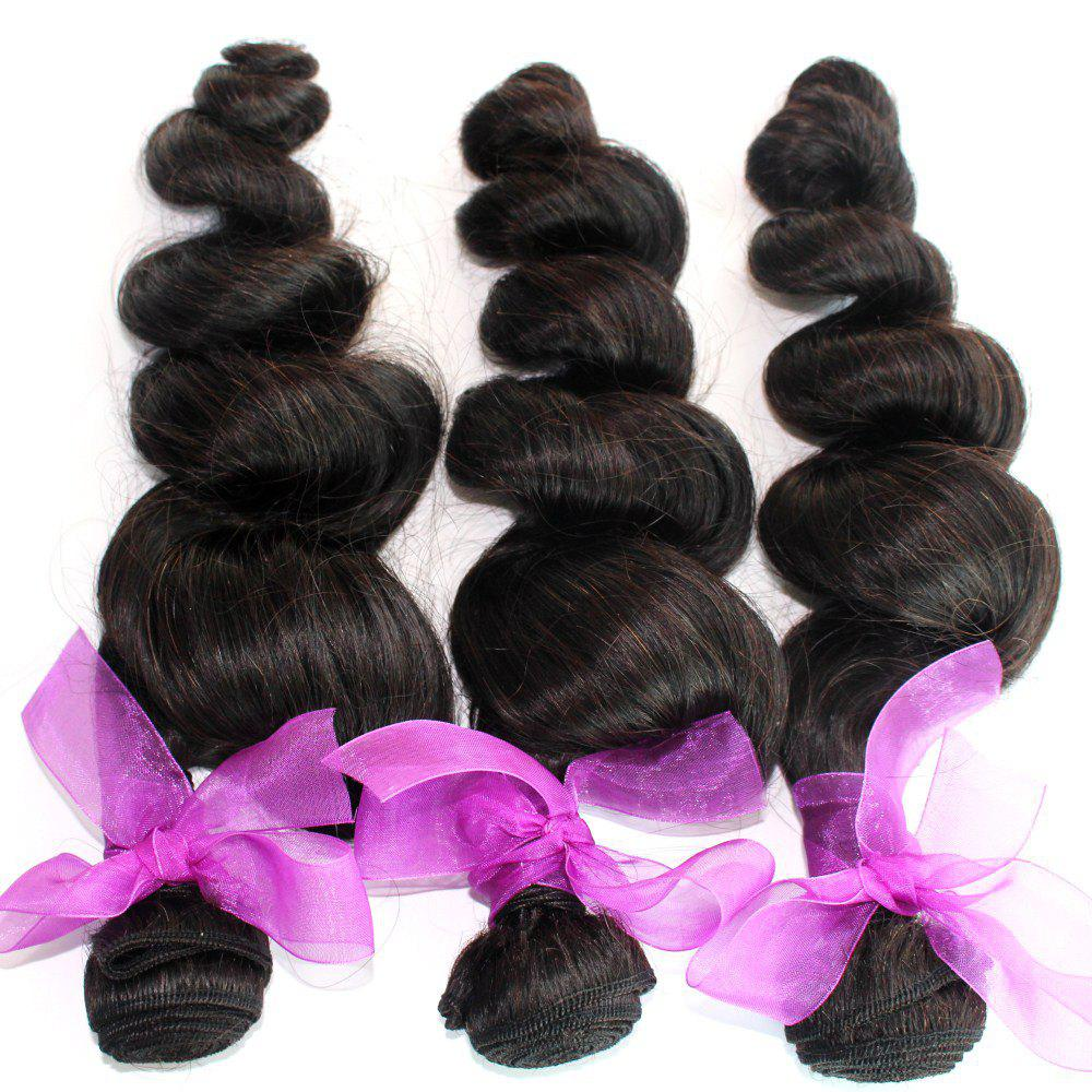 Loose Wave Natural Color Peruvian Human Virgin Hair Weave 4pcs - NATURAL COLOR 14INCH*14INCH*14INCH*14INCH