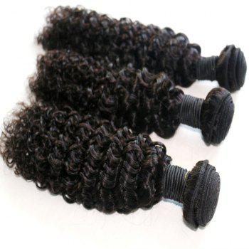 Jerry Curly Natural Color 100 Percent Brazilian Virgin Hair Weave 2pcs - NATURAL COLOR 12INCH*12INCH