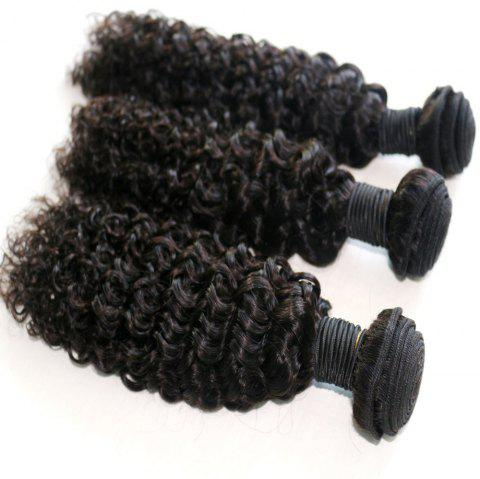 Jerry Curly Natural Color 100 Percent Brazilian Human Virgin Hair Weave 3pcs - NATURAL COLOR 10INCH*12INCH*14INCH