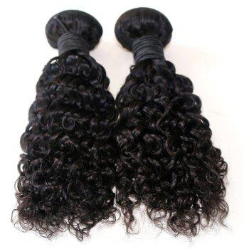 Jerry Curly Natural Color 100 Percent Brazilian Human Virgin Hair Weave 3pcs - NATURAL COLOR 16INCH*16INCH*16INCH