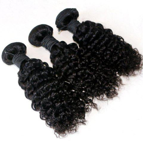 Jerry Curly  Brazilian Human Virgin Hair Weave 4pcs - NATURAL COLOR 12INCH*14INCH*16INCH*18INCH