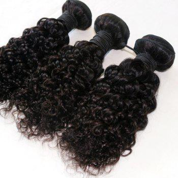 Jerry Curly  Brazilian Human Virgin Hair Weave 4pcs - NATURAL COLOR 16INCH*16INCH*16INCH*16INCH