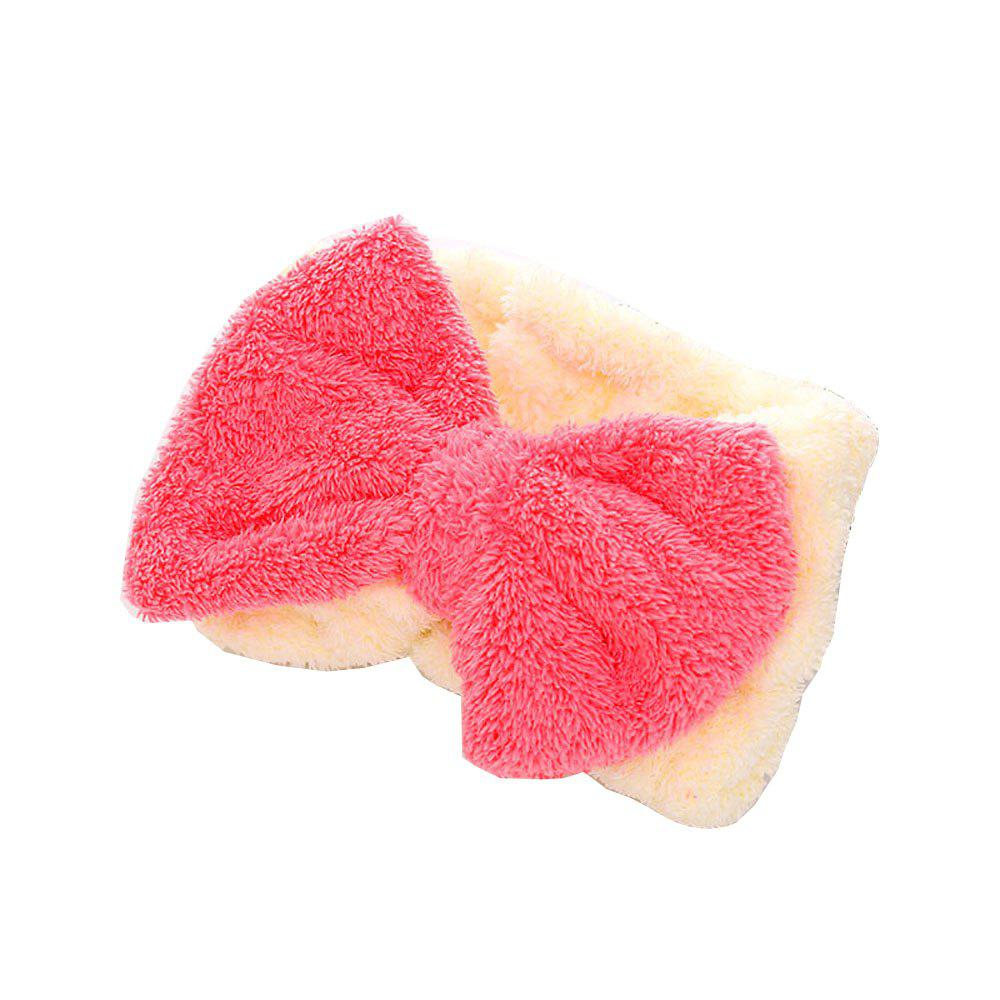 Girls Bowknot Large Headband 1PCS - PINK