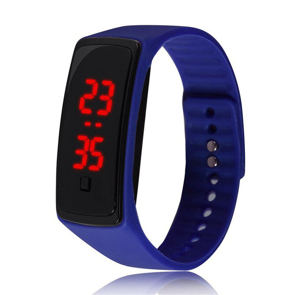 V5 Fashion LED Digital Watch Children Silicone Wristwatch - BLUE