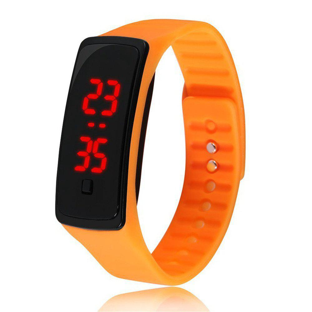 V5 Fashion LED Digital Watch Children Silicone Wristwatch - ORANGE