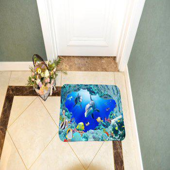 Undersea Bath Mat Rug Super Soft Non-Slip Machine Washable Quickly Drying Antibacterial for Kitchen - COLORMIX W16 INCH * L47 INCH