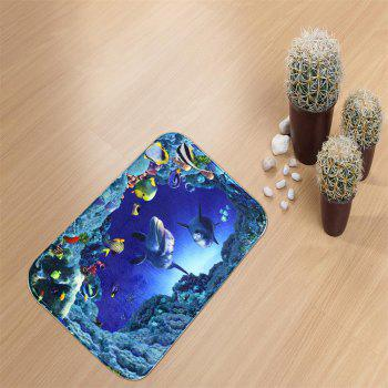 Undersea Bath Mat Rug Super Soft Non-Slip Machine Washable Quickly Drying Antibacterial for Kitchen - COLORMIX W16 INCH * L24 INCH