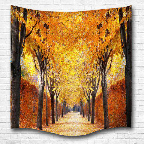 The Autumn Leaves 3D Digital Printing Home Wall Hanging Nature Art Fabric Tapestry for Bedroom Living Room Decorations - COLORMIX W153CMXL130CM