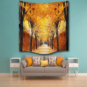 The Autumn Leaves 3D Digital Printing Home Wall Hanging Nature Art Fabric Tapestry for Bedroom Living Room Decorations - COLORMIX W229CMXL153CM