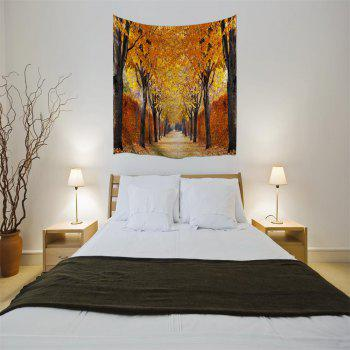 The Autumn Leaves 3D Digital Printing Home Wall Hanging Nature Art Fabric Tapestry for Bedroom Living Room Decorations - COLORMIX W230CMXL180CM