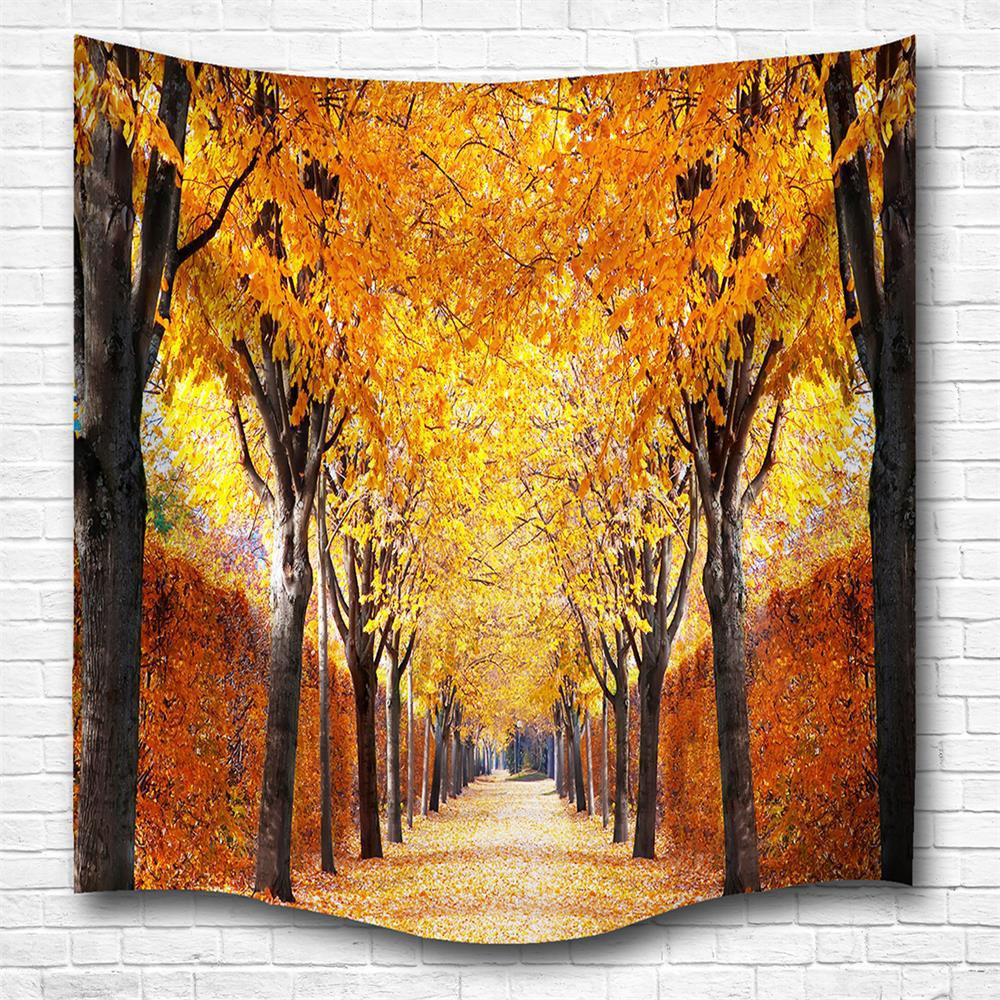 2018 The Autumn Leaves 3D Digital Printing Home Wall Hanging ...