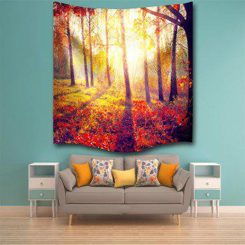 Morning Woods 3D Digital Printing Home Wall Hanging Nature Art Fabric Tapestry for Bedroom Living Room Decorations - COLORMIX W153CMXL102CM