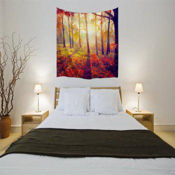 Morning Woods 3D Digital Printing Home Wall Hanging Nature Art Fabric Tapestry for Bedroom Living Room Decorations - COLORMIX W200CMXL180CM