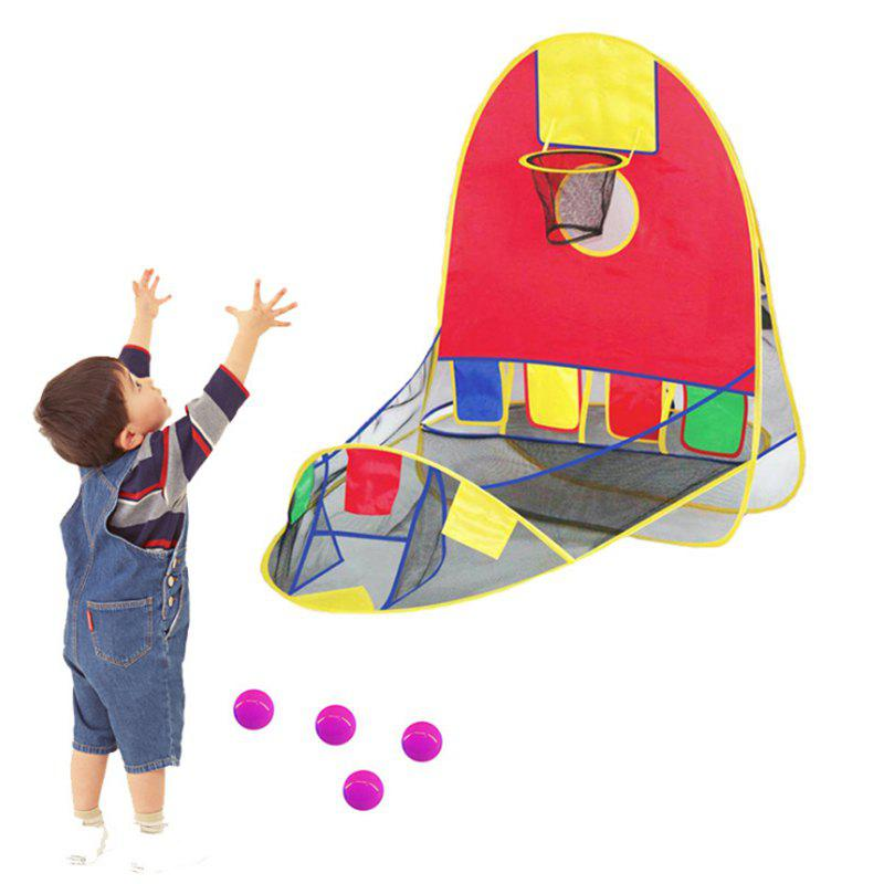 Portable Tent Ball Shooting Toy with 4 Balls - COLORMIX