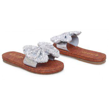 Leather  Casual Beach  Lady Sandals - SILVER 37
