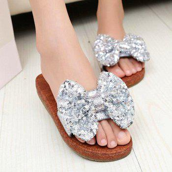 Leather  Casual Beach  Lady Sandals - SILVER 35