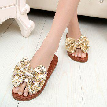 Leather  Casual Beach  Lady Sandals - GOLDEN 37