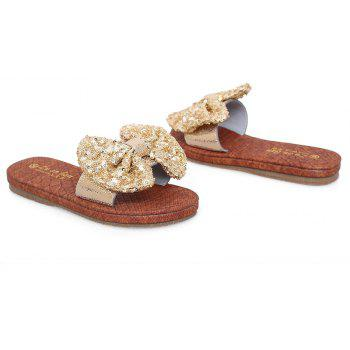 Leather  Casual Beach  Lady Sandals - GOLDEN 38