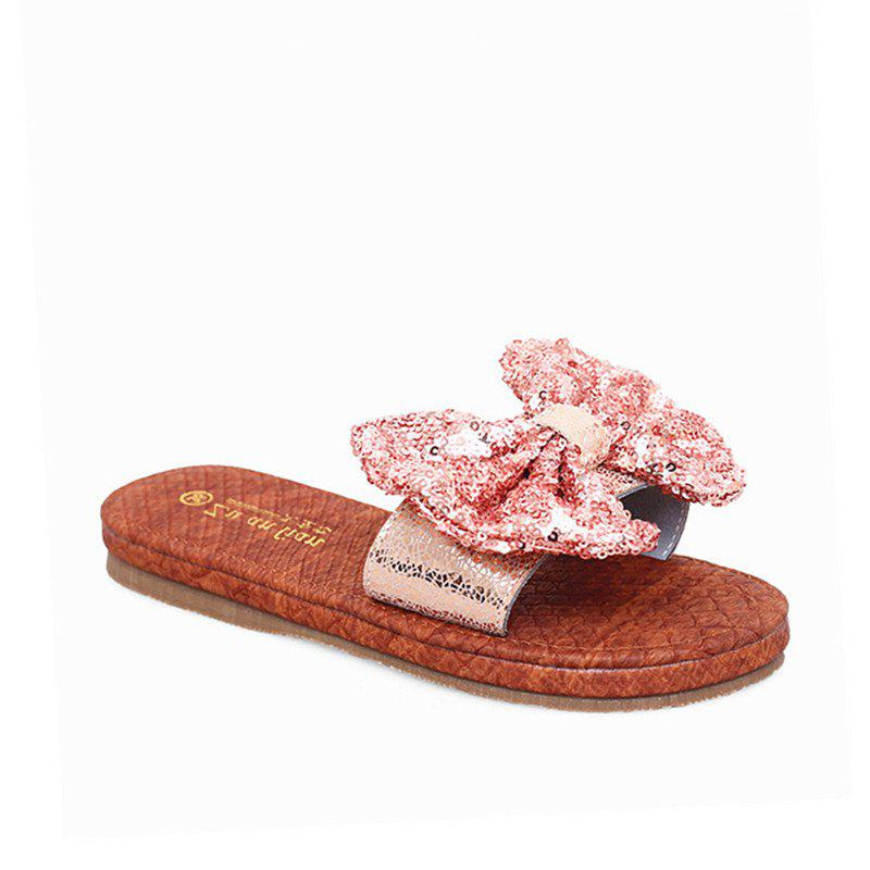 Leather  Casual Beach  Lady Sandals - PINK 36