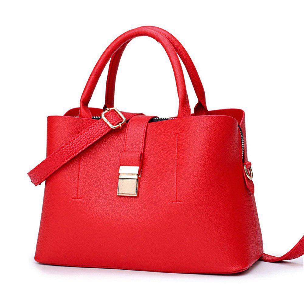 Bucket Bag Handbag Large Capacity - RED