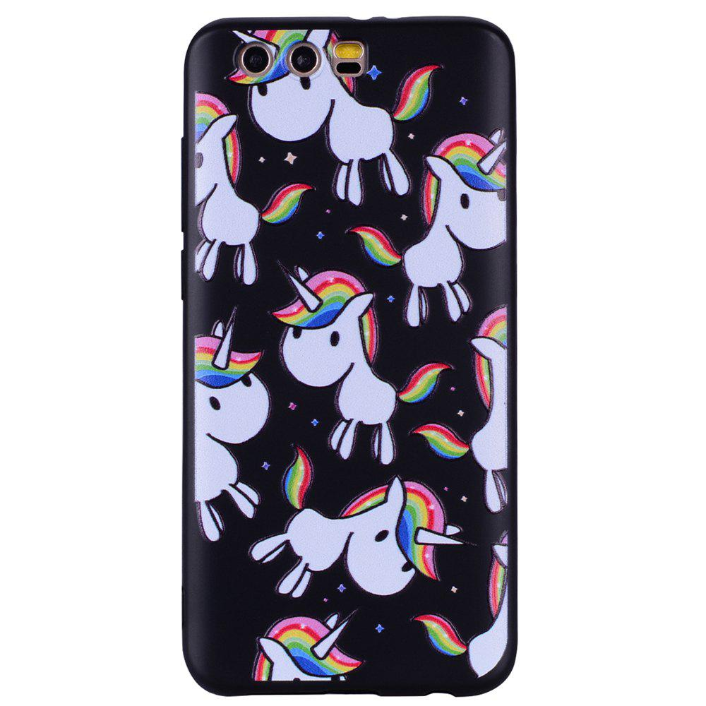 Case For Huawei Glory 9  Rainbow Unicorn   Design Soft TPU Phone Shell - COLOUR