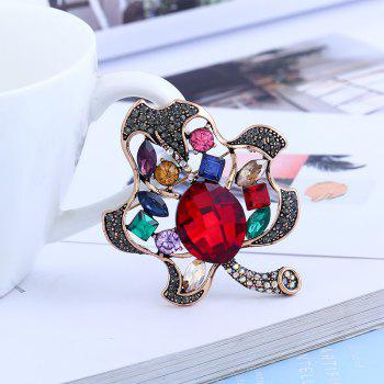Fashionable Creative High - grade Leaf Brooch - COLORMIX