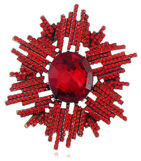 Popular Abstract Upscale Freehand Brushwork Full of Brooch - RED