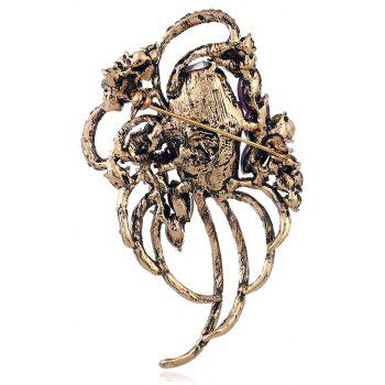 Popular Creative Line Goddess Hollowed-Out Brooch - CHAMPAGNE