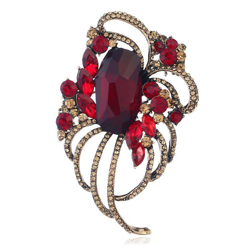 Popular Creative Line Goddess Hollowed-Out Brooch - RED