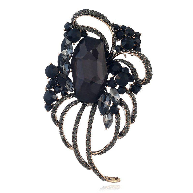 Popular Creative Line Goddess Hollowed-Out Brooch - BLACK