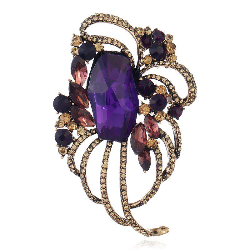 Popular Creative Line Goddess Hollowed-Out Brooch - PURPLE