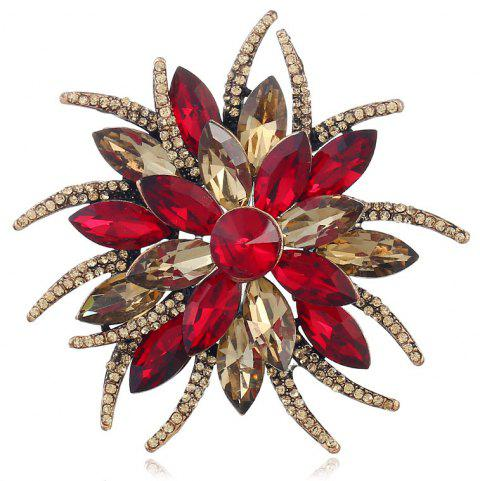 Mode créative populaire Antennae Flower Horse Eye Broche - Rouge