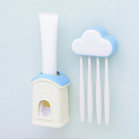 Cloud Cottage Creative Automatic Toothpaste Cartoon Toothbrush Holder Set - BLUE 10X6.3X3.8CM