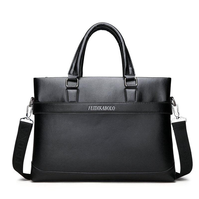 Male New Laptop Computer Handbag - BLACK
