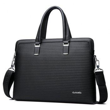 Male New Hand-held Cross-section Briefcase - BLACK