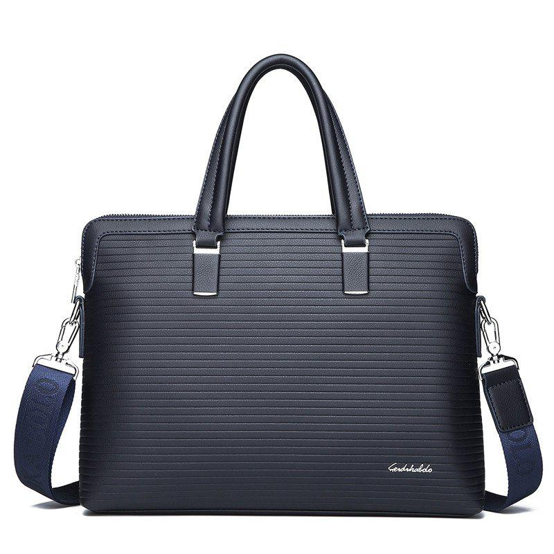 Male New Hand-held Cross-section Briefcase - BLUE