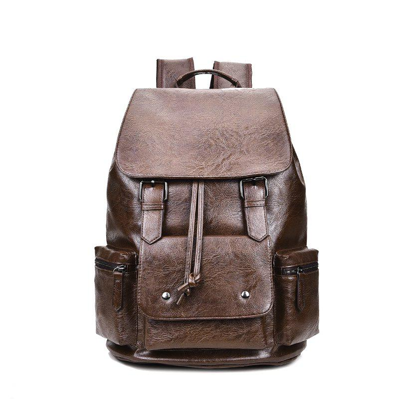 New Casual Travel Shoulder Bag Men - BROWN
