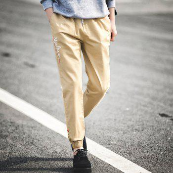 New Letter Feet Nine Pants Men - KHAKI M