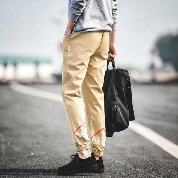 New Letter Feet Nine Pants Men - KHAKI L