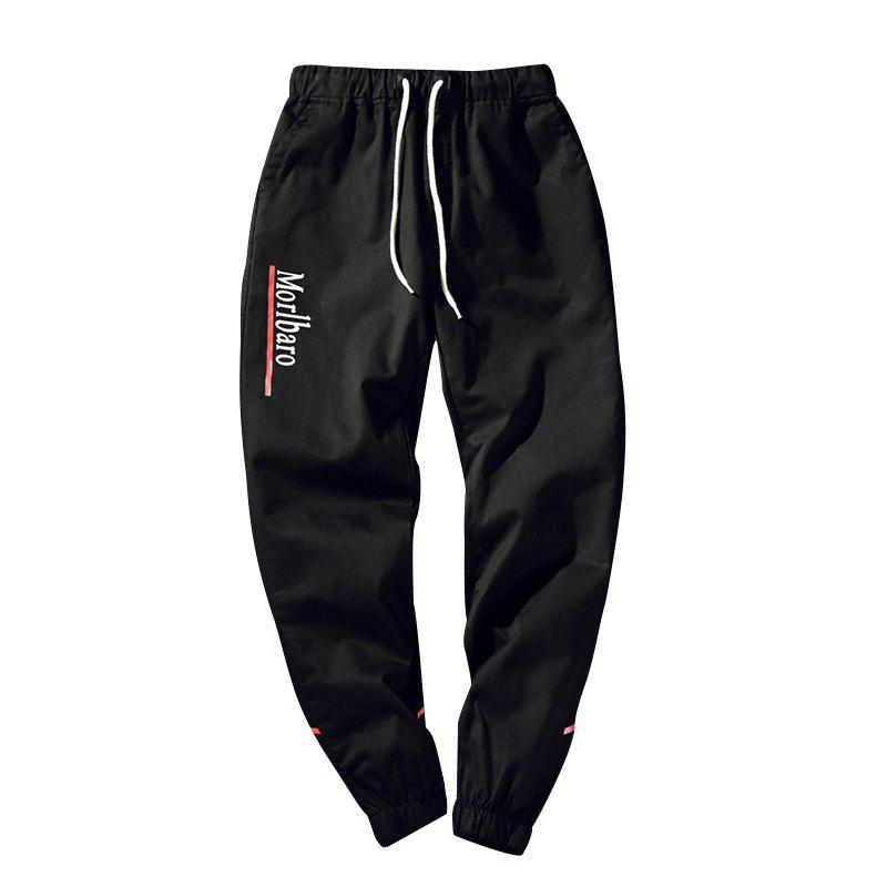 New Letter Feet Nine Pants Men - BLACK XL