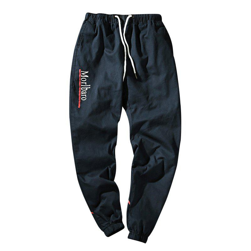 New Letter Feet Nine Pants Men - DEEP BLUE L
