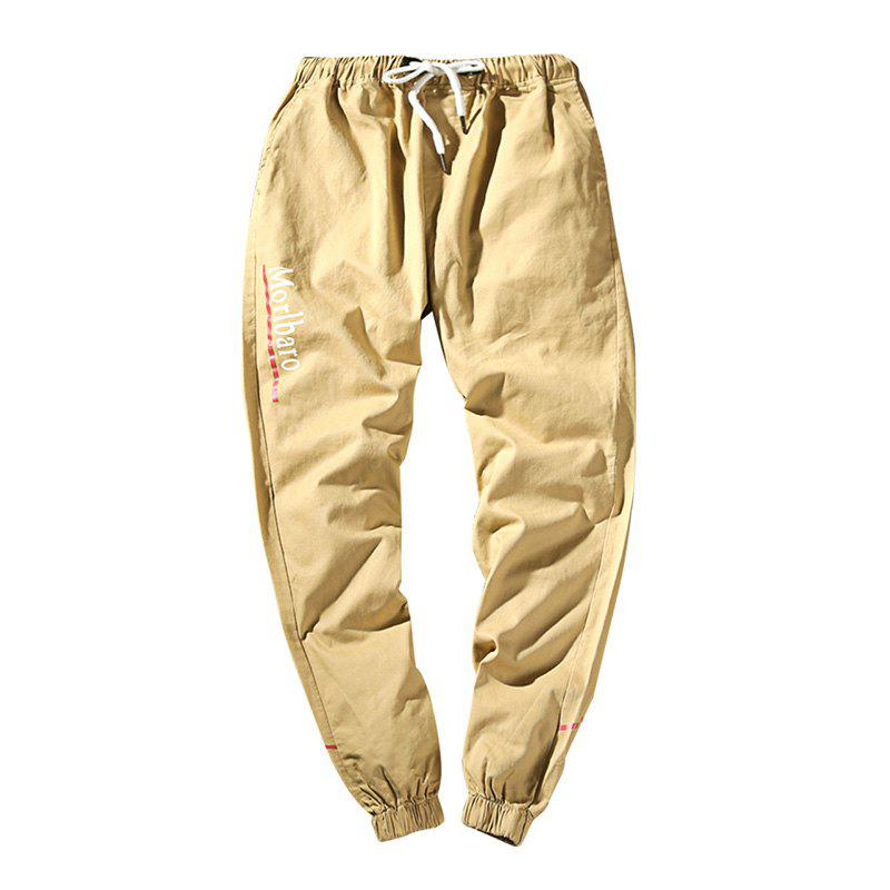 New Letter Feet Nine Pants Men - KHAKI XL